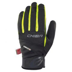 Dolge kolesarske rokavice Chiba Tour Plus- Black/Neon