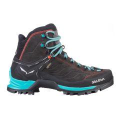 Ženski visoki pohodni čevlji Salewa MTN Trainer Mid GTX-magnet/Viridian Green