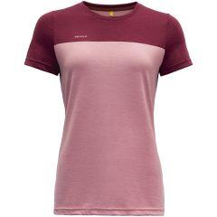 Ženska kratka majica Devold Norang - Foxglove/Beetroot