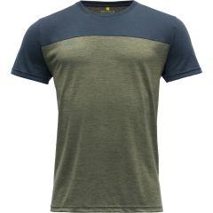 Moška kratka majica Devold Norang - Lichen Melange/Night