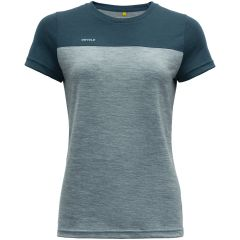 Ženska kratka majica Devold Norang - Pond/Cameo Melange