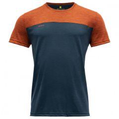 Moška kratka majica Devold Norang - Brick Melange/Night
