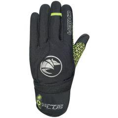 Dolge kolesarske rokavice Chiba Express+ Black/Neon