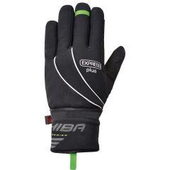 Dolge kolesarske rokavice Chiba Express+ Black
