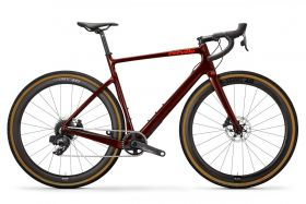 Gravel cestno kolo Cervélo Aspero Disc Force eTAP AXS 1 2020- Burgundy/Orange
