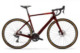 Gravel cestno kolo Cervélo Aspero Disc GRX 2020- Burgundy/Orange