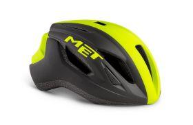Kolesarska čelada MET Strale- Black/Fluo Yellow