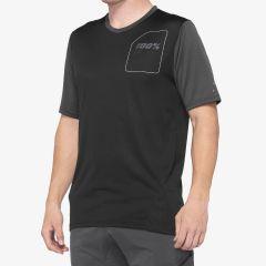 kolesarska-majica-100percent-ridecamp-jersey-black-front
