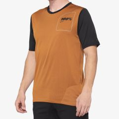 kolesarska-majica-100percent-ridecamp-jersey-terracota-front