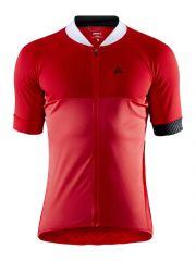 Kolesarska majica Craft Adopt- Bright Red/ White