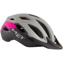 Kolesarska čelada MET Crossover-Grey/Pink