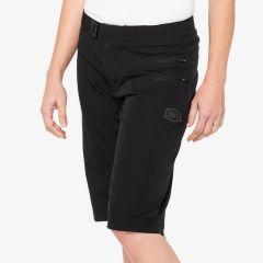 Ženske kolesarske hlače 100% Airmatic Shorts- Black