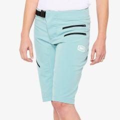 Ženske kolesarske hlače 100% Airmatic Shorts- Seafoam