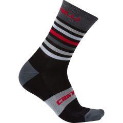 Kolesarske nogavice Castelli Gregge - Black/Red