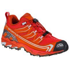 Otroški tekaški čevlji La Sportiva Falkon Low 31-35 - Goji/Saffron
