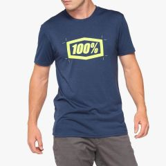 Moška majica 100% Cropped Tech Tee - Navy