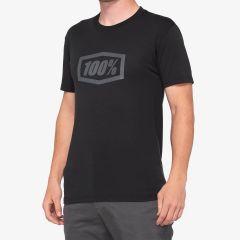 Moška majica 100% Essential Tech T-Shirt -  Black/Grey