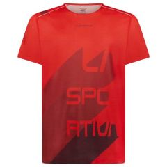 Tekaška majica La Sportiva Stream - Poppy/Chili