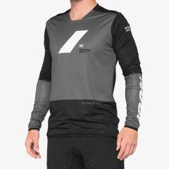 Kolesarska majica 100% R-CORE X jersey-Charcoal/Black