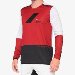 Kolesarska majica 100% R-CORE X jersey-Cherry/Black