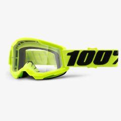 Otroška MTB/Moto očala 100% Strata 2 Youth Yellow - Clear Lens