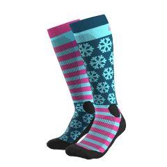 Ženske nogavice Dynafit FT Graphic- Pink/Flamingo