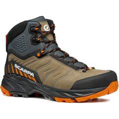 Polvisoki pohodni čevlji Scarpa Rush GTX - Desert/Mango