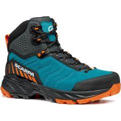 Polvisoki pohodni čevlji Scarpa Rush GTX - Pagoda Blue/Mango