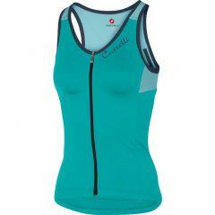 Ženska kolesarska majica Castelli Solare-brez rokav-turquoise