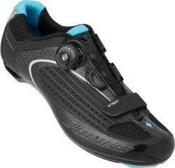 Ženski kolesarski cestni čevlji Specialized Ember-Black/Blue