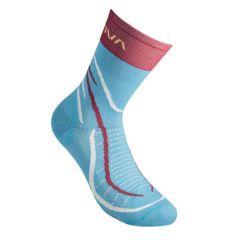 Ženske tekaške nogavice La Sportiva Sky - Malibu Blue/Berry