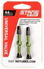 Tubeless ventil Stans No Tubes AL FV 44mm- Green