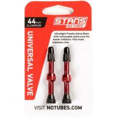 Tubeless ventil Stans No Tubes AL FV 44mm- Red