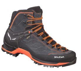 Visoki pohodni čevlji Salewa MTN Trainer Mid GTX-Asphalt/Fluo Green