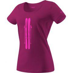 Ženska majica Dynafit Graphic - Beet Red/Skis