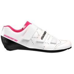 Ženski kolesarski cestni čevlji Gaerne G.RECORD Lady-White/Fuxia
