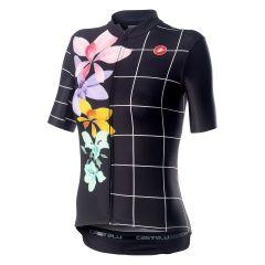 Ženski kolesarski dres Castelli Fiorita-Black