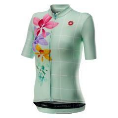 Ženski kolesarski dres Castelli Fiorita-Light Turquoise
