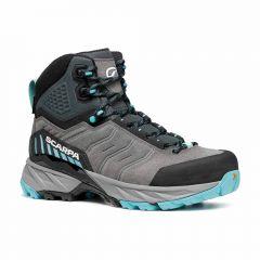 Ženski polvisoki pohodni čevlji Scarpa Rush GTX - Midgray Aqua