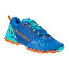 Ženski tekaški čevlji LaSportiva Bushido II marine blue/aqua