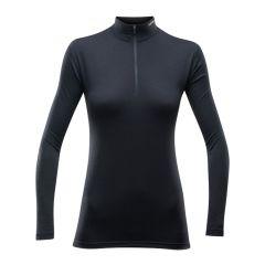Ženska termo majica Devold breeze Half Zip-Black