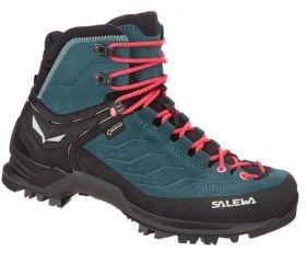 Ženski visoki pohodni čevlji Salewa MTN Trainer Mid GTX-Atlantic deep/Ombre blue